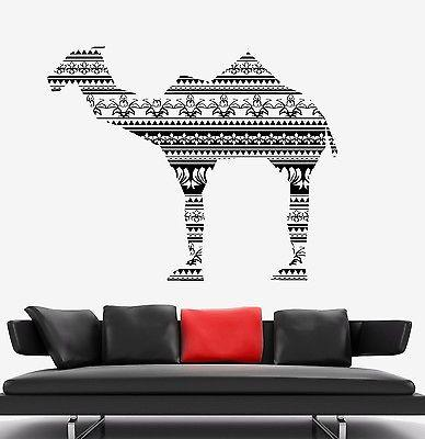 Wall Vinyl Camel Desert Animal Ornament Mural Vinyl Decal Unique Gift (z3334)