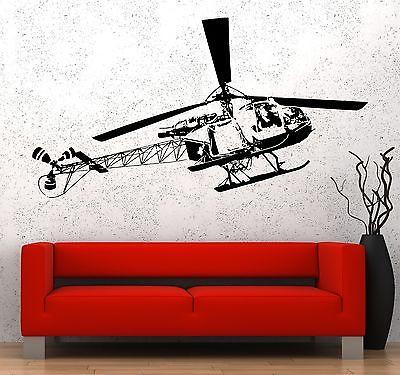 Wall Vinyl Military Army Marine Helicopter Guaranteed Quality Decal Unique Gift (z3486)