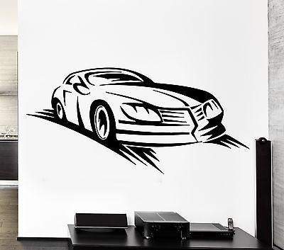 Wall Decal Car Race Sport Speed Racing Man Sticker For Living Room Unique Gift (z2779)