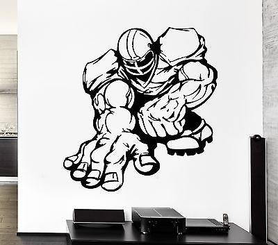 Wall Decal Football Player Caricature Powerful Sport Game Vinyl Stickers (ed279)