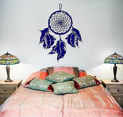 Wall Decal Dreamcatcher Dream Catcher Feather Amulet For Bedroom Unique Gift (z2795)