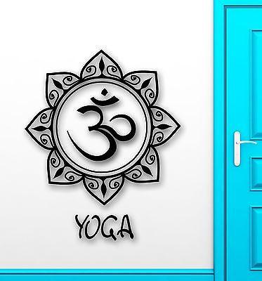 Wall Sticker Vinyl Decal Yoga Mandala Om Mantra Meditation Amulet Unique Gift (ig2088)