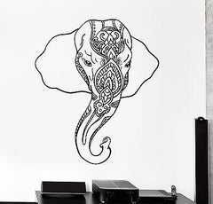 Wall Vinyl Decal Sticker Elephant Indian Style Animals Ornament Mural Unique Gift (z3350)