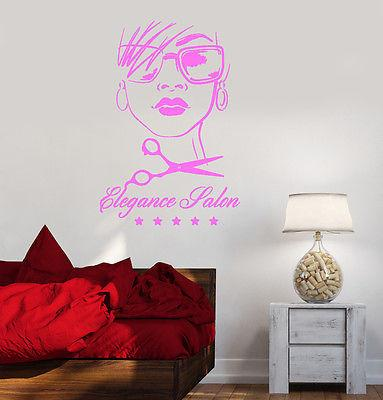 Vinyl Wall Decal Beauty Elegance Salon Hair Barbershop Spa Stickers Unique Gift (ig2128)