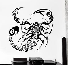 Wall Decal Scorpion Animal Ornament Tribal Mural Vinyl Decal (z3184)