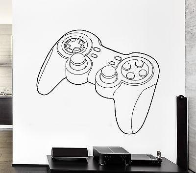 Wall Decal Game Gamer Controller Nursery Vinyl For Kids Unique Gift (z2817)