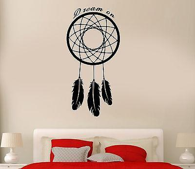 Wall Decal Dreamcatcher Dreamcatcher Talisman Qoute Dare To Dream On Unique Gift (z2786)