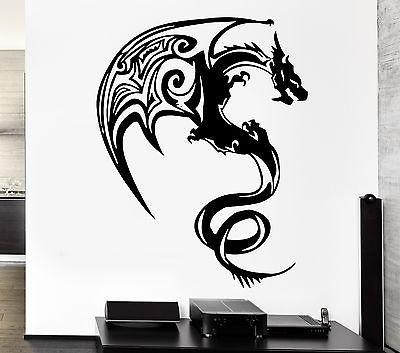 Wall Decal Dragon Myth Fantasy Monster Cool Decor For Bedroom Unique Gift (z2698)