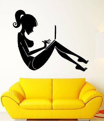 Wall Stickers Girl Computer Internet Community Games Room Vinyl Decal Unique Gift (ig2444)