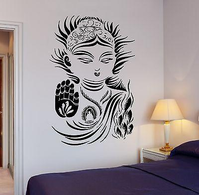 Wall Decal Buddha Buddhism Yoga Meditation Relaxation OM Zen Unique Gift (z2670)
