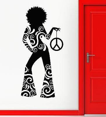 Wall Sticker Vinyl Decal Hot Sexy Girl Hippie Dance Night Club Peace (ig2290)