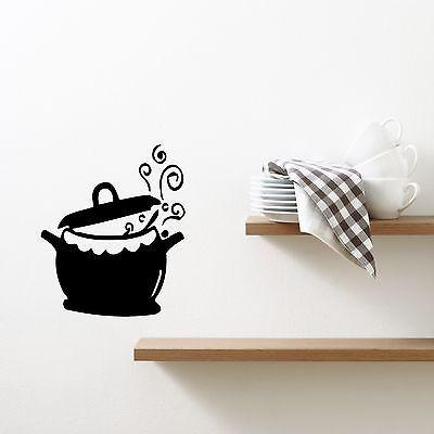 Wall Sticker Vinyl Decal Kitchen Pots and Fry Pans Cooking Kettle Cuisine Unique Gift (m321)