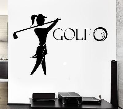 Wall Decal Golf Player English Sports Vinyl Stickers Art Mural Unique Gift (ig2545)