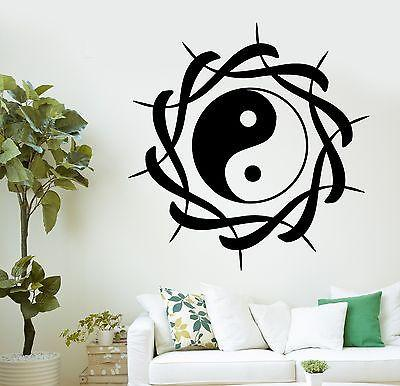 Wall Decal Buddha Yin Yang Symbol Meditation Ornament Vinyl Sticker Unique Gift (z2887)