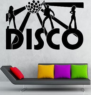 Disco Wall Stickers Music Night Club Party Nightclub Dance Vinyl Decal Unique Gift (ig1321)