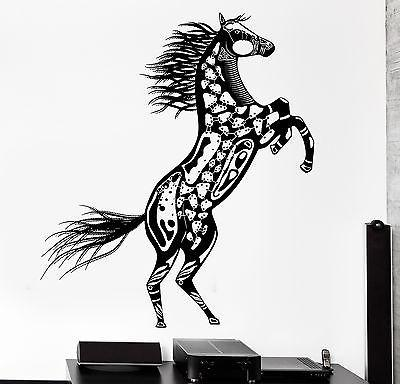 Wall Decal Horse Mustang Animal Ornament Tribal Mural Vinyl Decal Unique Gift (z3196)