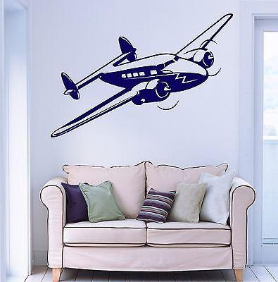 Wall Vinyl Retro Airplane Aircraft Guaranteed Quality Decal (z3479)