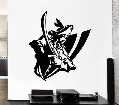 Wall Decal Captain Sailor Ocean Sea Pirate Ship Boarding Vinyl Decal Unique Gift (ed307)