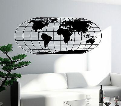 Wall Mural World Map Atlas Travel Adventure Vinyl Sticker For Living Room Unique Gift z2826