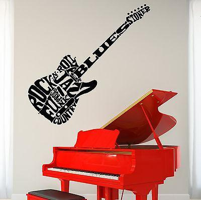 Wall Vinyl Guitar Music Rock Guaranteed Quality Decal Unique Gift (z3487)