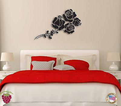 Decal Vinyl Wall Sticker Flower Rose Romantic for Bedroom z1253