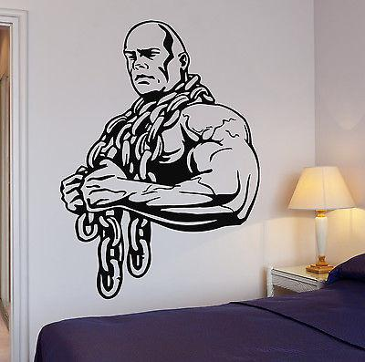 Wall Decal Sport Bodybuilding Gym Bodybuilder Cool Decor For Living Room Unique Gift (z2768)