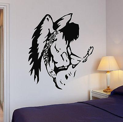 Vinyl Decal Pop Rock Star Music Guitar Wings Wall Stickers (ig1089)