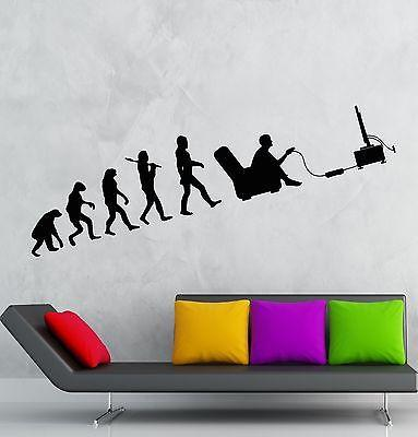 Gamer Wall Decal Evolution Video Game Kids Room Vinyl Sticker Art Mural  (ig2538) Part 40