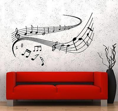 Wall Vinyl Music Notes Dancing Good Sound Guaranteed Quality Decal Unique Gift (z3541)