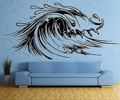 Wall Sticker Wave Sea Ocean Marine Water Sport Art Bedroom (z2584)