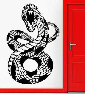 Wall Sticker Vinyl Decal Snake Scary Animal Predator Aggressive Cool Unique Gift z2446