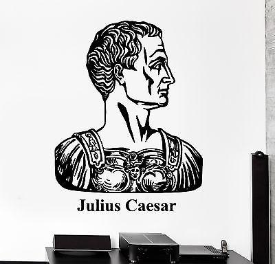 Wall Vinyl Julius Caesar Ancient Rome Guaranteed Quality Decal Unique Gift (z3435)