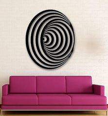 Wall Stickers Vinyl Decal Modern Decor Abstract Style Symbol Illusion (ig950)