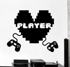 Wall Decal Gaming I Love Games Quote Sign Vinyl Decal Unique Gift (z3105)
