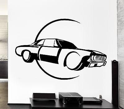 Wall Decal Car Luxury Race Sport Speed Man Sticker For Living Room Unique Gift (z2778)