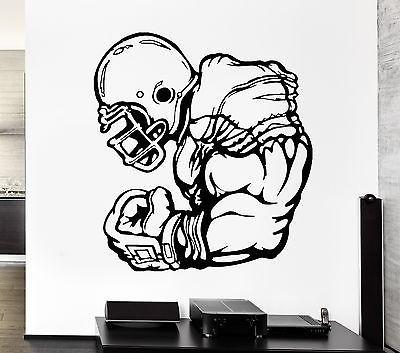 Wall Decal Football Player Athlete Sport Game Rugby Vinyl Stickers Unique Gift (ed277)