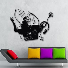 Wall Stickers Vinyl Decal Music Lover DJ Party Night Club Unique Gift (ig581)