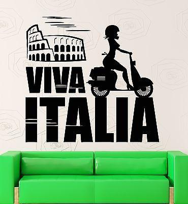 Wall Sticker Vinyl Decal Italy Rome Colosseum Europe Travel Girl Decor Unique Gift (ig2186)