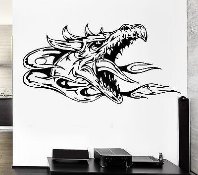 Wall Decal Dragon Myth Mythology Middle Age Fantasy Monster Cool Interior Unique Gift z2708