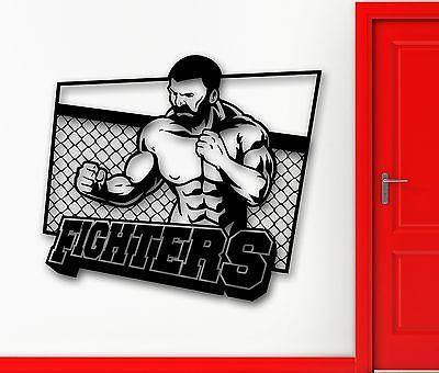 Wall Sticker Vinyl Decal Martial Arts Fighter UFC MMA Sports Decor Unique Gift (ig2032)