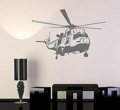 Wall Vinyl Helicopter Army Air Force Guaranteed Quality Decal (z3444)