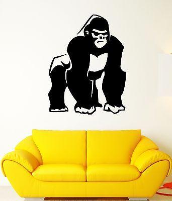 Wall Decal Gorilla Monkey Primate Orangutan Animal Africa Vinyl Stickers Unique Gift (ed197)