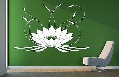 Lotus Flower Buddha Yoga Studio Meditate Decor Wall Sticker Vinyl Decal Unique Gift (z2905)