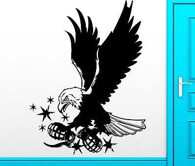 Wall Sticker Vinyl Decal Air Force USA Eagle With Grenade War Decor (z2503)