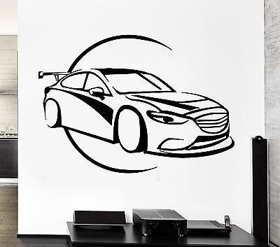 Wall Decal Car Race Sport Speed Luxury Man Sticker For Living Room Unique Gift (z2780)