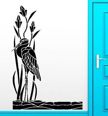 Wall Sticker Heron Bird Lake Backwater Frog Pecker Decor Living Room Unique Gift (z2530)