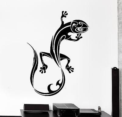 Wall Decal Animal Lizard Gecko Ornament Tribal Mural Vinyl Decal Unique Gift (z3319)