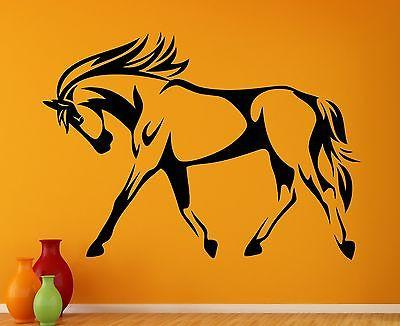 Wall Decal Horse Mane Mare Beautiful Hooves Tail Animal Vinyl Stickers (ed239)