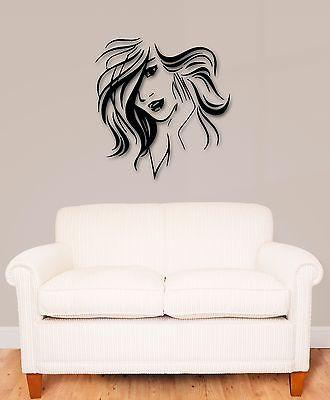 Wall Stickers Vinyl Decal Beautiful Woman Hairstyle Hair Unique Gift (ig838)