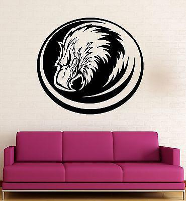 Wall Decal Eagle Beak Bird Hawk Falcon Feathers Art Vinyl Stickers Unique Gift (ed285)